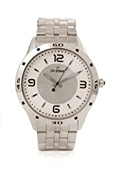 Dezine Arabic And Index Markers Silver Watch For Unisex
