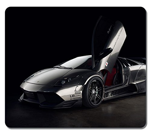 Art Mouse Pads Customized Lamborghini Murcielago High Quality Eco Friendly Neoprene Rubber Mouse Pad Desktop Mousepad Laptop Mousepads Comfortable Computer Mouse Mat Cute Gaming Mouse pad