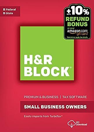 H&R Block Tax Software Premium & Business 2016 Win + Refund Bonus Offer