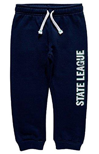 Chicco - Pantalone lungo felpa non garzata, bimbo (18 mesi, Blu)