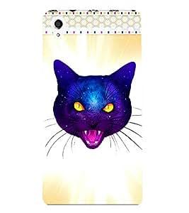 Fuson 3D Printed Cat Designer back case cover for Sony Xperia M4 Aqua - D4524