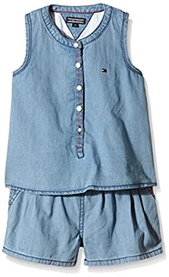 Tommy Hilfiger Baby Girls Britt Denim Mini Playsuit Slvls Dungarees