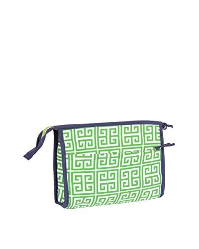 Malabar Bay Greek Key Green Cosmetic Bag