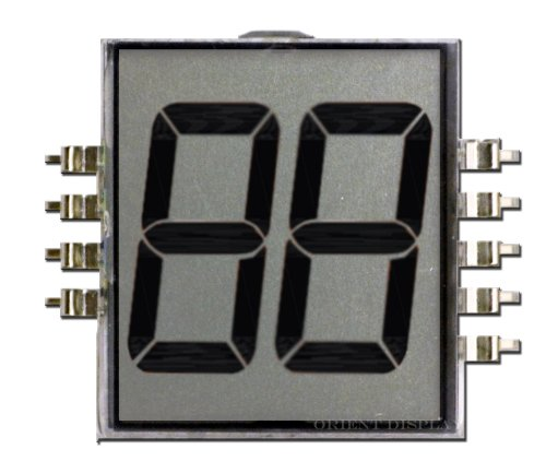 Two Digit Lcd Glass Panel (Transflective) Od-202