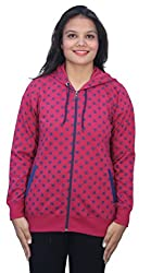 Romano Womens Hot & Trendy Pink Winter Hoodie Sweatshirt Fleece Jacket