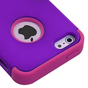Mybat Iphone5Hpctuffso023Np Premium Tuff Case For Iphone 5 - 1 Pack - Retail Packaging - Grape/Hot Pink