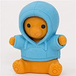 Iwako Bear In Blue Parka Eraser By From Japan