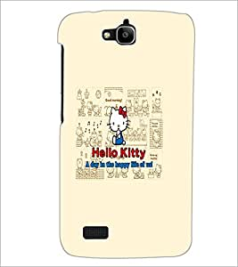PrintDhaba Hello Kitty D-5516 Back Case Cover for HUAWEI HONOR HOLLY (Multi-Coloured)