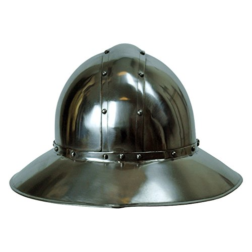 Armor Venue: Medieval Kettle Hat Helmet Head Armour Silver