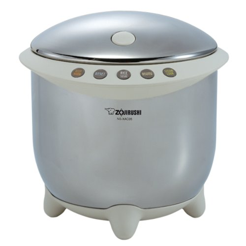 Zojirushi NS-XAC05XR Rizo Micom 3-Cup Rice Cooker and Warmer, Stainless