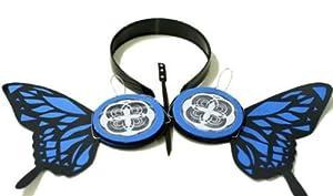 L-email Butterfly Magnet Ruka Mg Cosplay Earphone Headphones Jp30 (blue) (not true earphone)