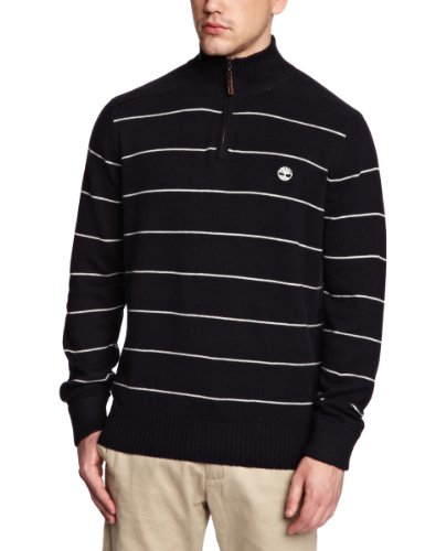 Timberland Clothing Stripe 1/2 Zip Men's Jumper Navy XX-Large
