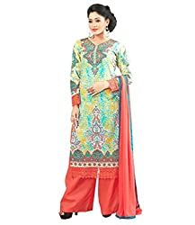 Admyrin Women Cotton Dress Material (Ay-Sk-Fg-7008 _Multi-Coloured)