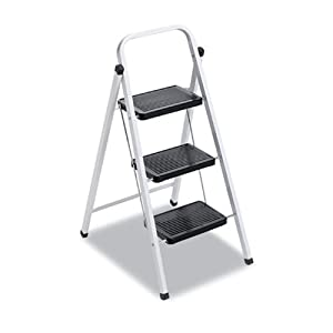 Davidson Ladder L436203 QS3 Quick Step Steel Three-Step Folding Stool, 11-3/4w x 24-1/4 Spread x 36-3/4h from Davidson Ladder