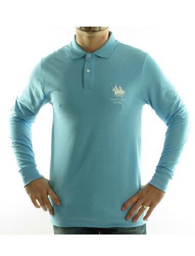 Frank Ferry Ff02w Straight Blue Man Polo Shirts Men - S