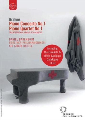 Brahms: Piano Concerto No. 1 & Piano Quartet No.1 (Barenboim/Berliner Philharmoniker/Rattle) EuroArts & Idéale Audience Catalogue 2010 [DVD] [2004]
