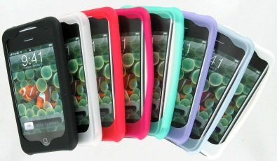 Bundle - 8 Color Silicone Covers Skins for Apple iPhone