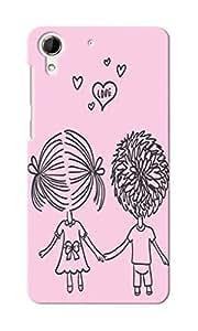 CimaCase Love Couple Designer 3D Printed Case Cover For HTC Desire 728