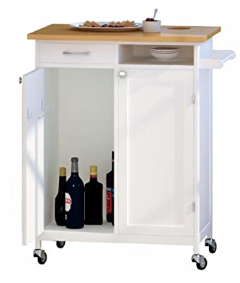 NORDIC Furniture Butcher Block Rolling Kitchen and BBQ Workstation