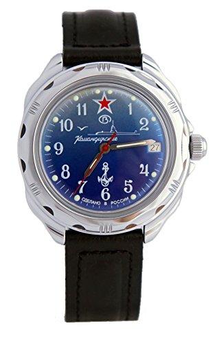 Vostok Chistopol Vostok Komandirskie Military Russian Watch U-boot Commander Submarine Blue Ministry Case 2414 / 211289