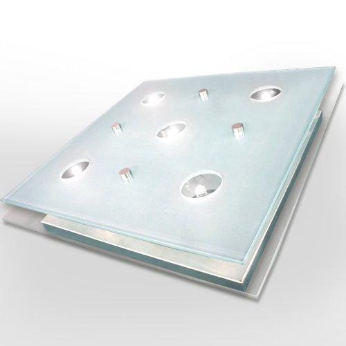 Lampada soffitto bagno lampadario vetro lampadario quadrato for Plafonnier de salle de bain