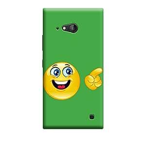 Qbic 3D High Quality Designer Mobile Back Case Cover For Nokia Lumia 730 (Premium Matte Finishing Back Case)