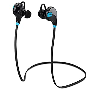 Mpow® Swift Bluetooth 4.0 Wireless Stereo Sweatproof Jogger, Running, Sport Headphones Earbuds Earphone with AptX,Mic Hands-free Calling
