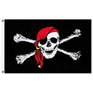 3' x 5' Jolly Roger Pirate Flag