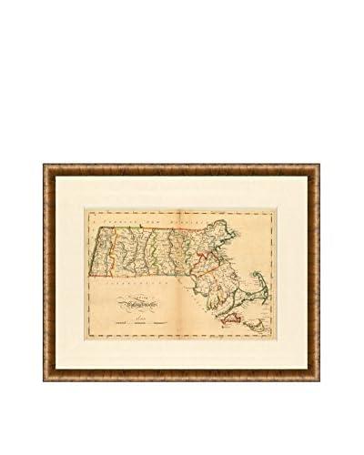 Map Antiquities Antique Map Of Massachusetts, 1795-1818, Multi