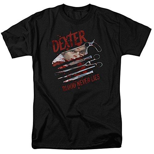 Dexter Blood Never Lies Mens Short Sleeve Shirt BLACK 4X
