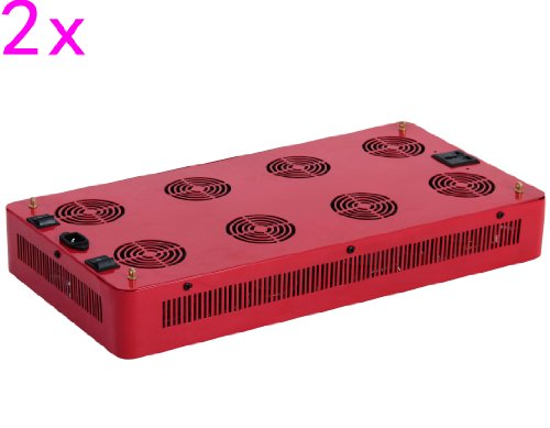 Goledgo 2Pcs Lot 400W Cob Led Plant Grow Light R/B/W Ac85-265V