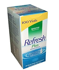 Allergan Refresh Plus Lubricant Eye Drops Single-Use Vials - 100 ct.
