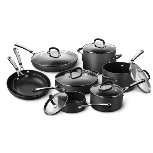 Simply Calphalon Nonstick 14 Piece Cookware Set (12 Piece Nonstick Cookware compare prices)