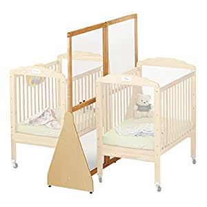 See thru crib divider large baby for Double decker crib