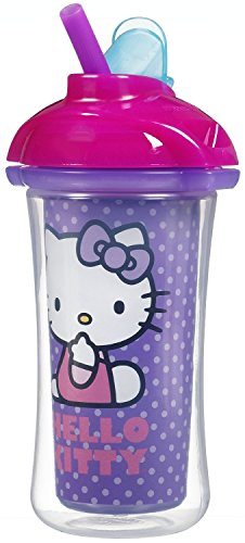 Munchkin Hello Kitty Insulated Click Lock Straw Cup - 8Oz front-759088
