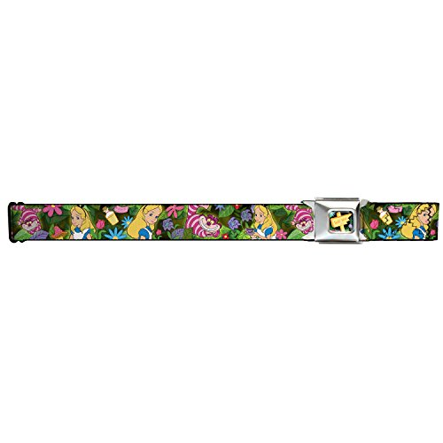 Walt Disney Seatbelt Belt - Alice in Wonderland - Alice w/ Cheshire Cat