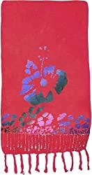 Half Size Red Hibiscus Sarong