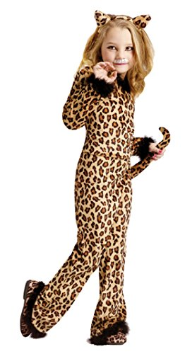 Girls Pretty Leopard Kids Child Fancy Dress Party Halloween Costume