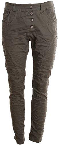 Basic. de Boyfriend Jeans da donna pantaloni Khaki Uni XL