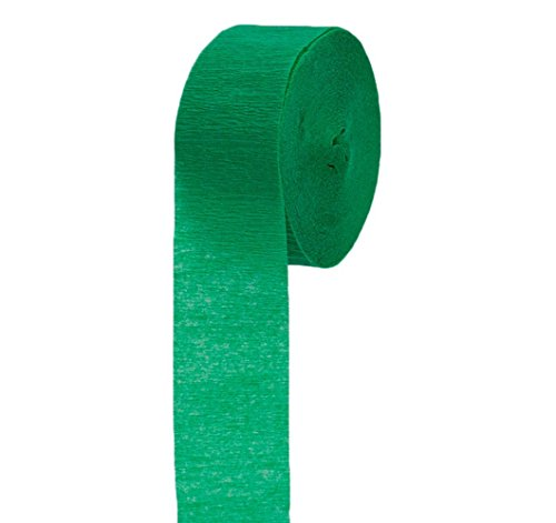 "Mylife Dartmouth Green - Crepe Paper Roll Streamer ""Decoration And Craft Supply"" 81 Feet / 24.7 Meters (Marvelous For Bridal Showers) front-329944"
