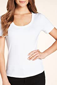 Pure Cotton Scoop Neck T-Shirt [T41-0958-S]