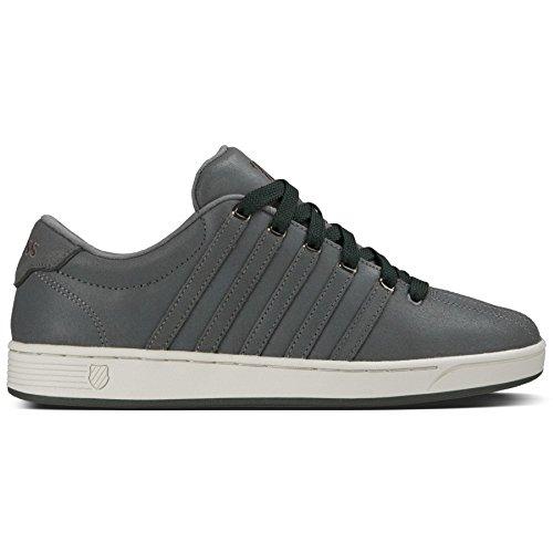 K-Swiss Men's Court Pro II C CMF Fashion Sneaker, Charcoal/Beluga, 12 M US