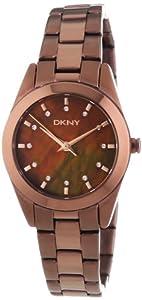 DKNY Damen-Armbanduhr XS Analog Quarz Edelstahl beschichtet NY8621