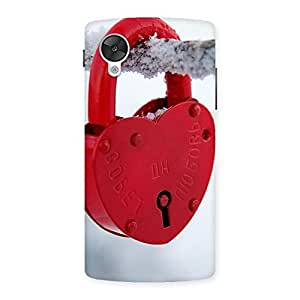 Delighted Red Lock Multicolor Back Case Cover for Google Nexsus 5