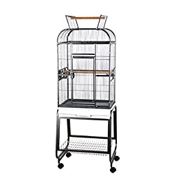 A and E Cage Co. Opening Playtop Bird Cage with Plastic Base