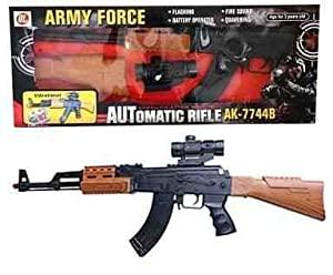 AK RIFLE AK-47 TOY GUN (AK-7744B) AK47 FLASHING SOUND GUN