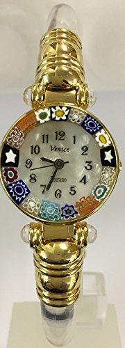 CA D'ORO Murano Millefiori Bangle Watch - Clear Bracelet [Watch] (Ca Timing compare prices)