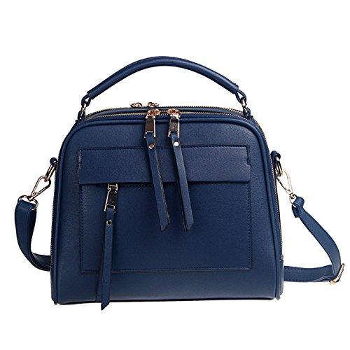 koson-man-womens-sweet-style-elegance-pu-leather-zipper-handbags-shoulder-bagsnavy