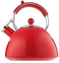 Copco Journey 2.3 Quart Red Teakettle