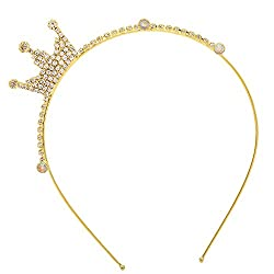 Sanjog Princess Crown Golden Hair band/Headband For Kids/Women-
